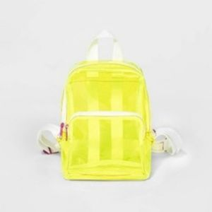  CAT & JACK  See-Through Yellow Backpack NWT